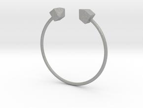 2 Houses Bracelet Medium Size D=65mm in Aluminum: Medium