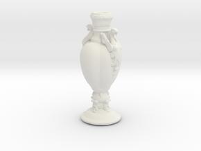 Printle Classic Vase in White Natural Versatile Plastic