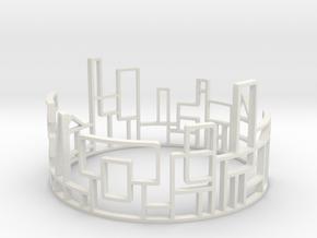 SKYLINE Bracelet Medium Size D=65mm in White Natural Versatile Plastic: Medium