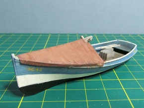 4mm Scale Fishing Boat in White Processed Versatile Plastic: Small
