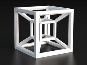 Hypercube A in White Strong & Flexible Polished