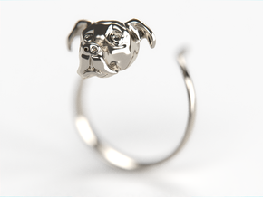 Truffles the Dog in Fine Detail Polished Silver