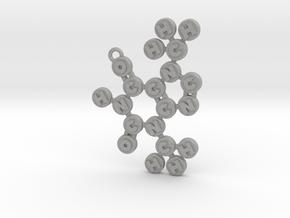 Theobromine Pendant in Aluminum