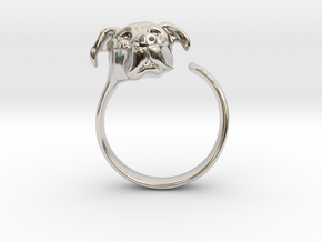 Truffles the Dog in Rhodium Plated Brass