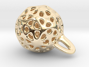 P-funny jewel in 14k Gold Plated Brass