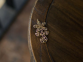Flower in Polished Brass