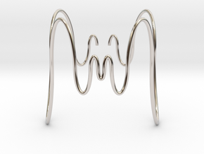 Bracciale Ondulato Medusa in Rhodium Plated Brass