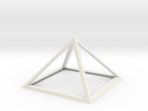 "Perfect Pyramid 1 Foot 51°51""14"" in White Natural Versatile Plastic"