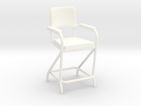 Billiard Chair in White Strong & Flexible Polished