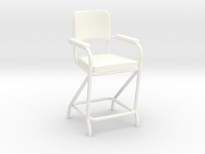 Billiard Chair in White Processed Versatile Plastic