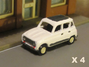 Renault 4 Hatchback 1:160 scale (Lot of 4 cars) in Smooth Fine Detail Plastic