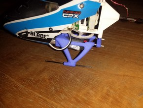 Nano-CPX Landing gear in Blue Strong & Flexible Polished