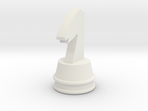 Courier chess Knigt in White Natural Versatile Plastic