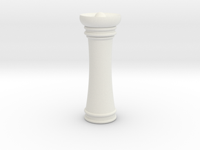Courier chess queen in White Natural Versatile Plastic