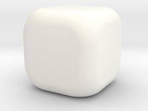 Small Dice W6 Blank in White Processed Versatile Plastic
