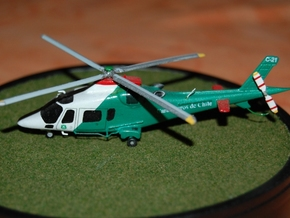011A Agusta A109 1/144 in Smooth Fine Detail Plastic