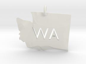 Washington State Pendant in White Strong & Flexible