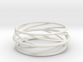 Swirl Bangle in White Strong & Flexible: Small