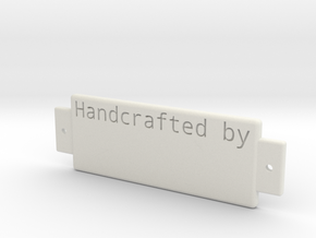 Name Plate 0002 - engrave in White Strong & Flexible