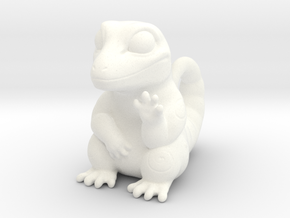 Gecko in White Strong & Flexible Polished
