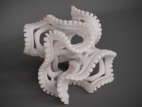 Gyroid Fancy in White Natural Versatile Plastic