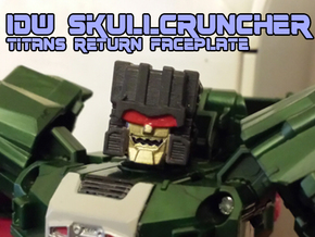 Skullcruncher Face, IDW (Titans Return) in Black Hi-Def Acrylate
