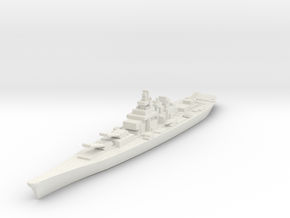 USS IOWA 1/3000 in White Natural Versatile Plastic