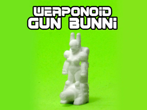 Gun Bunni Transforming Weaponoid Kit (5mm) in White Strong & Flexible