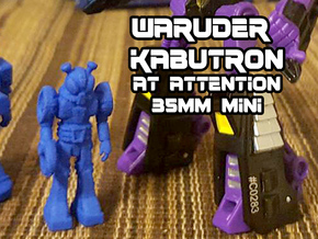 Waruder, Kabutron Type, at attention 35mm Mini in Blue Processed Versatile Plastic