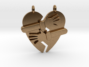 Hold My Heart Pendant (Two-Piece) in Natural Brass