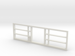 Window, 192in X 54in, With Display Shelves in White Strong & Flexible