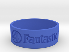 Fantastic Four Title Engraved Size 12 in Blue Strong & Flexible Polished: 12 / 66.5