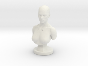 Non-scale Sci-Fi Robotic Assistant Bust Statue in White Natural Versatile Plastic