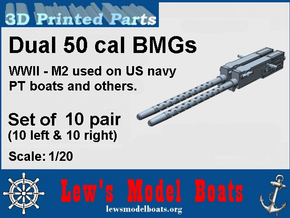 PT Boat dual 50 cal BMG - 1/20 scale in Frosted Ultra Detail: 1:20