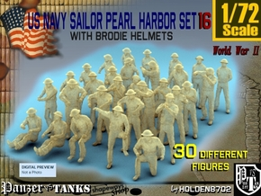 1-72 US Navy Pearl Harbor Set 16 in Smooth Fine Detail Plastic