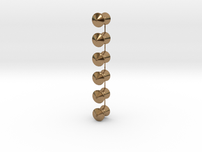 QR Vent Flat Roof X 6 in Natural Brass: 1:64 - S