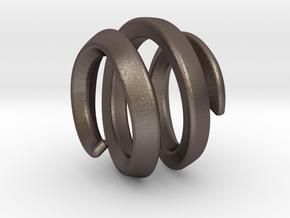 filler for sphere spiral 16mm in Polished Bronzed Silver Steel