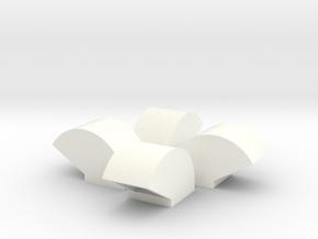 1/64 Bin Vent 18inch in White Processed Versatile Plastic
