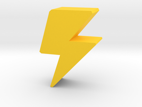 Game Piece Lightning Bolt in Yellow Processed Versatile Plastic
