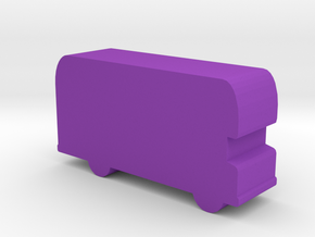 Game Piece, Double-decker Bus in Purple Processed Versatile Plastic