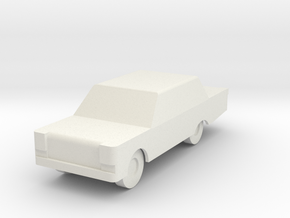 Generic Automobile in White Strong & Flexible