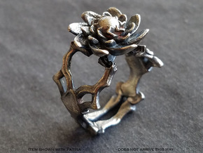 Ring Nouveau04 V01 in Natural Silver
