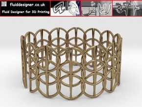 Enneper Curve Bracelet 65mm in Raw Brass