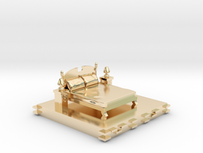 Bedroom decoration miniature in 14k Gold Plated Brass: Small