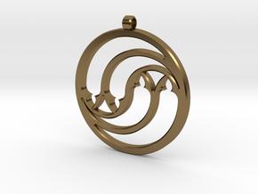 Pendant Tranquille in Polished Bronze: Medium