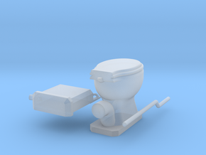 EP727 Toilet in Smooth Fine Detail Plastic
