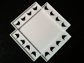 Ptarmigan Three Layer Puzzle (Base) in White Strong & Flexible
