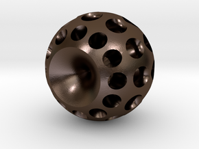 Power Source in Polished Bronze Steel
