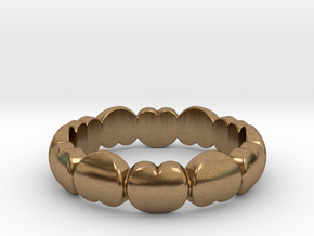 Ring Of Love  in Natural Brass: 6 / 51.5