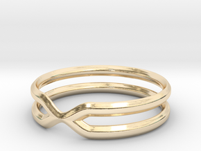 Double Ring in 14k Gold Plated Brass: 7.5 / 55.5